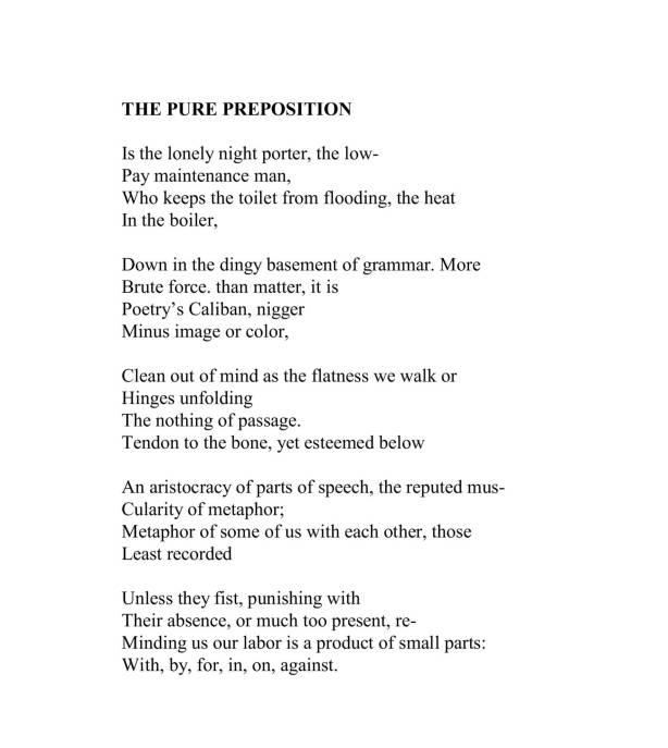 """""""The Pure Preposition""""   Julio Marzán   J. A. Marzán"""